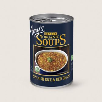 Amys Hearty Spanish Rice & Red Bean Soup 416g