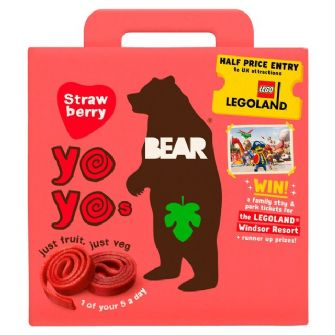 Bear Yoyo Strawberry Multipack 5 X 20g