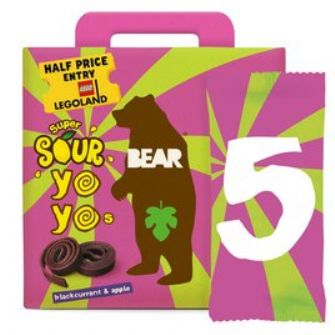 Bear Yoyo Sours Blackcurrant & Apple Multipack 5 X 20g