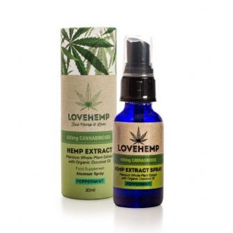 Love Hemp CBD Oil Atomiser Spray 400mg Peppermint 30ml