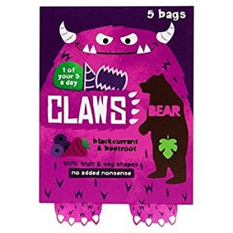Bear Claws Blackcurrant & Beetroot Multipack 5 X 18g