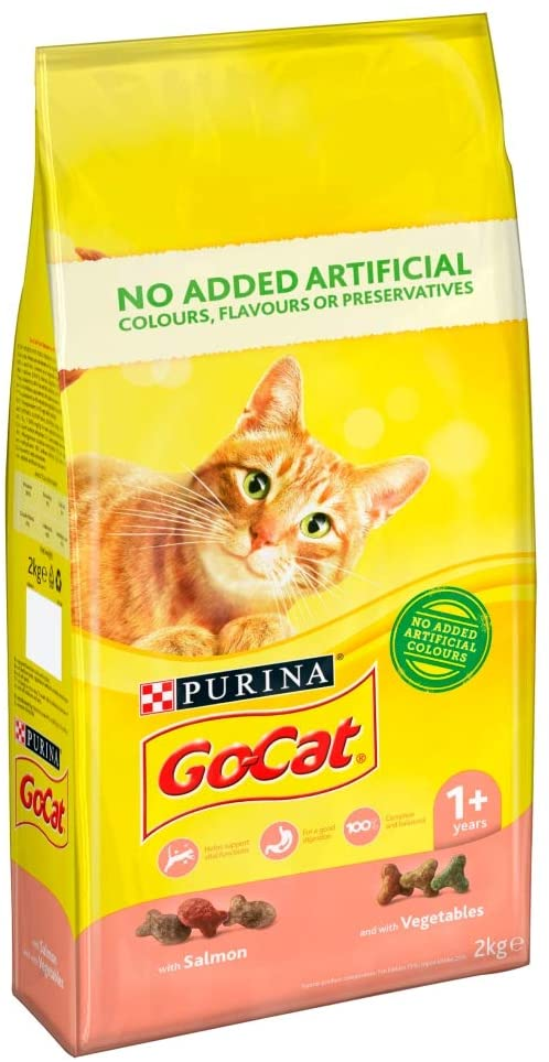 GoCat Dry Cat Food Salmon / Veg 2kg