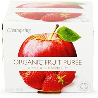 Clearspring Organic Apple & Strawberry Puree 2x100g