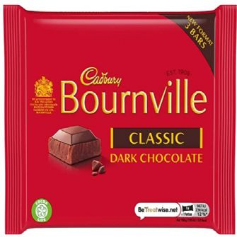 Cadbury's Bournville 3 pack 135g