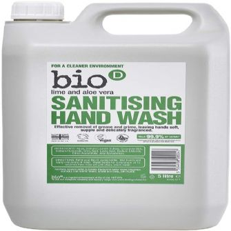 Bio D Sanitising Handwash Lime and Aloe Vera 5 litres