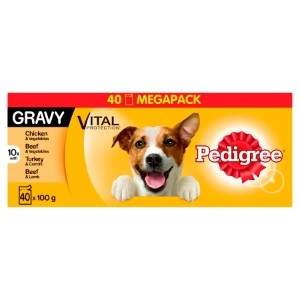 Pedigree Chum Pouch Mixed Gravy Mega Pack 40 x 100g