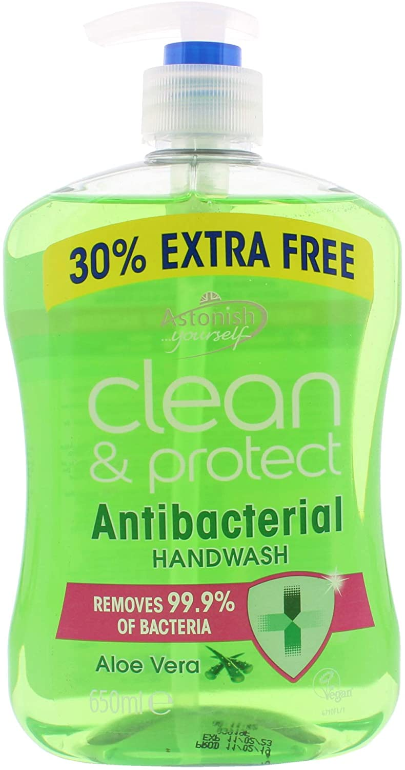 Astonish Anti-Bacterial Clean Protect Hand Wash Vera Liquid 650ml