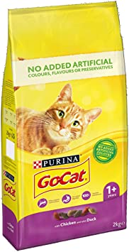 GoCat Dry Cat Food Chicken / Duck 2kg