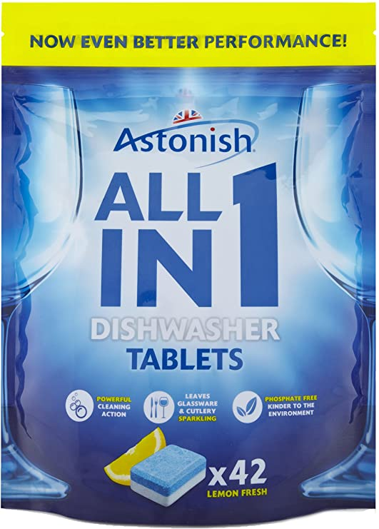 Astonish Dishwasher Tablets All In 1 42Pk