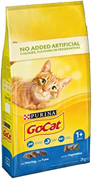 GoCat Dry Cat Food Tuna / Herring / Veg 2kg