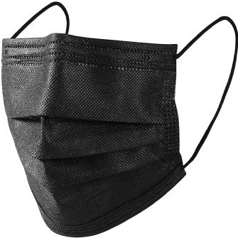 Face Masks 3 ply 25 pack black
