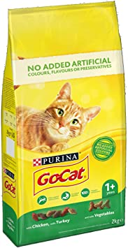 GoCat Dry Cat Food Chicken / Turkey / Veg 2kg