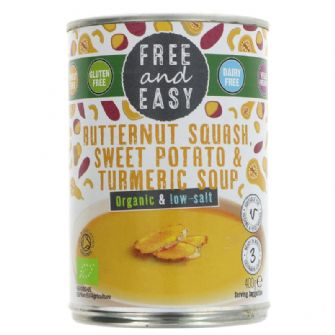 Free & Easy Low Salt Butternut Squash Sweet Potato & Turmeric Soup 400g