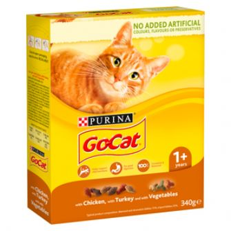 GoCat Dry Cat Food Chicken / Turkey / Veg 340g