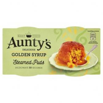 Aunty's Golden Syrup Steamed Puddings 2x95g