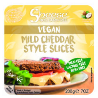 Bute Sheese Mild Cheddar Slices 200G