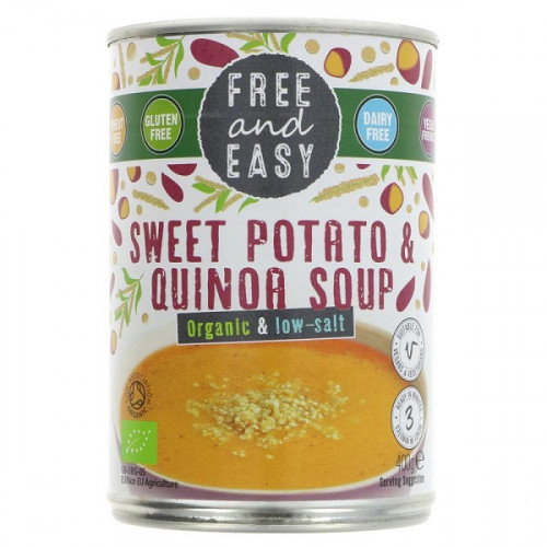 Free & Easy Organic Low Salt Sweet Potato & Quinoa Soup 400g