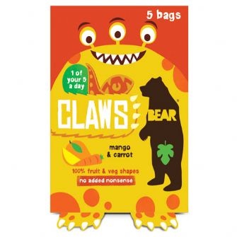 Bear Claws Mango & Carrot Multipack 5 X 18g