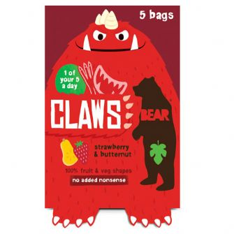 Bear Claws Strawberry & Butternut Squash Multipack 5 X 18g