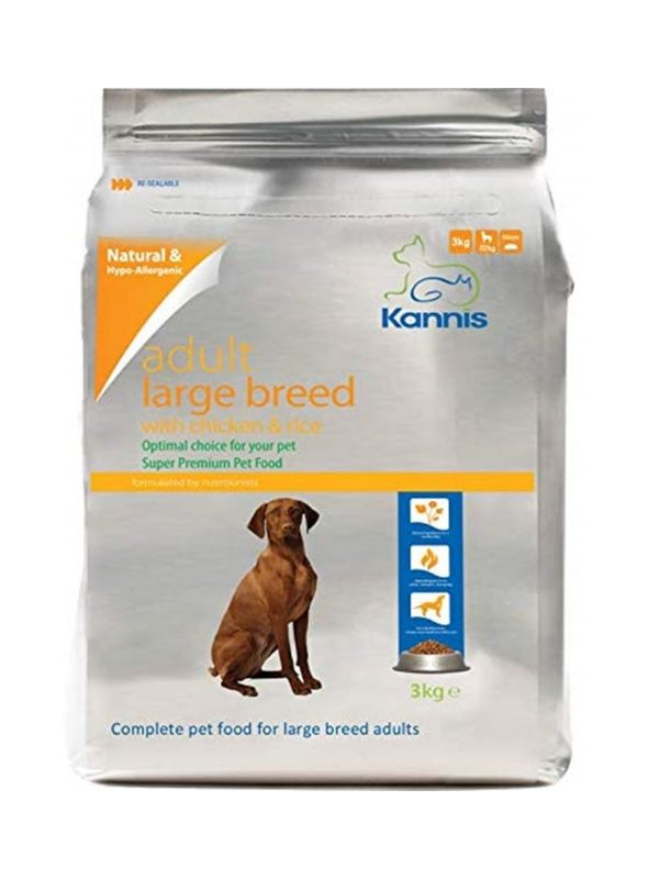 Kannis Hypoallergenic Premium Dog Food Adult Large 3kg
