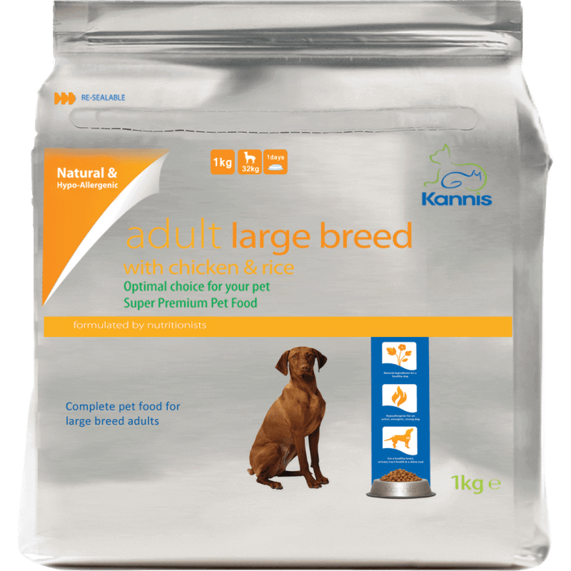 Kannis Hypoallergenic Premium Dog Food Adult Large 1kg