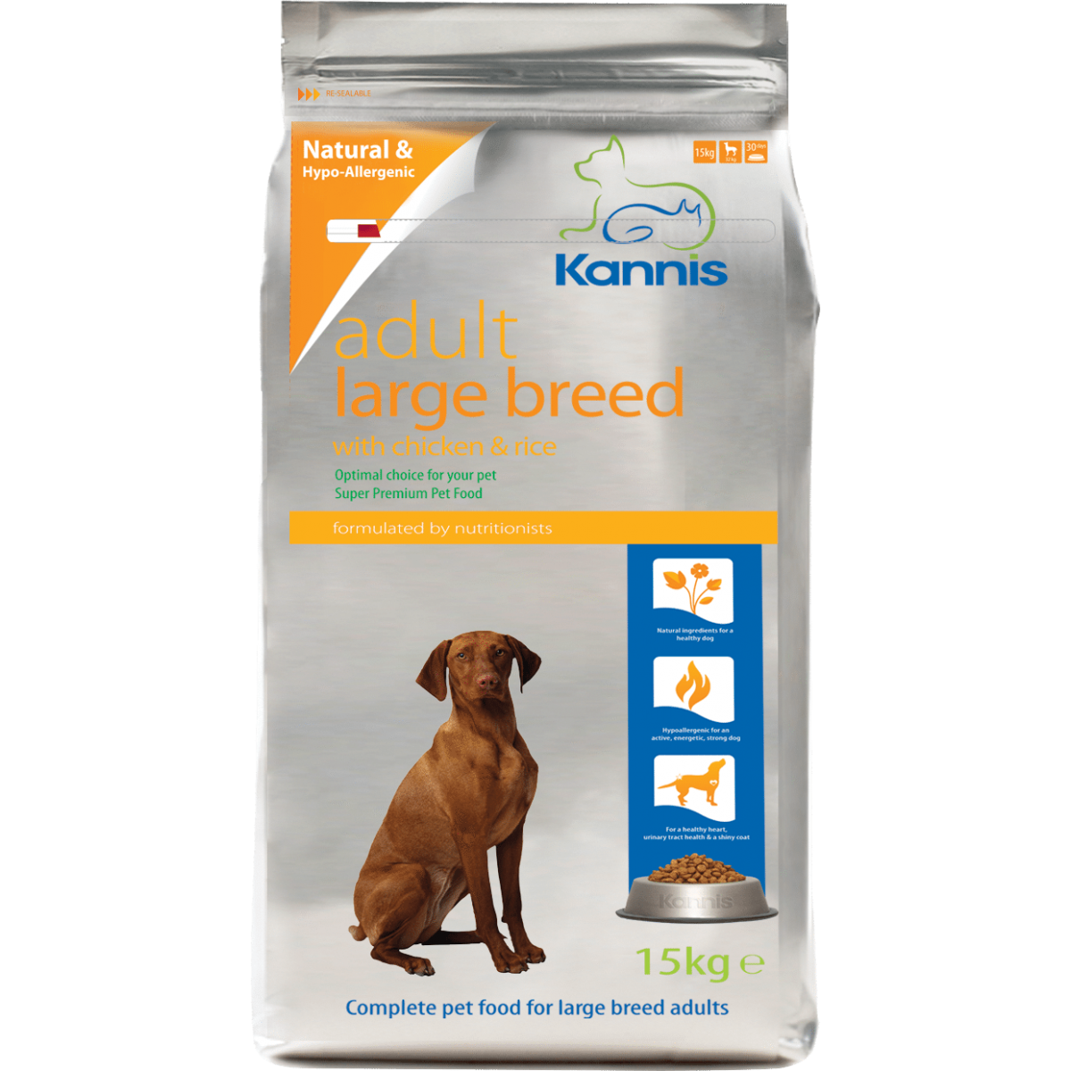 Kannis Hypoallergenic Premium Dog Food Adult Large 15kg