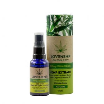 Love Hemp CBD Oil Atomiser Spray 400mg Natural 30ml