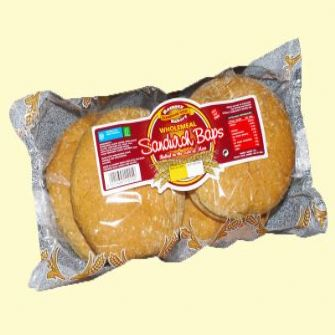 Ramsey Bakery Wholemeal Sandwich Baps 4 pack